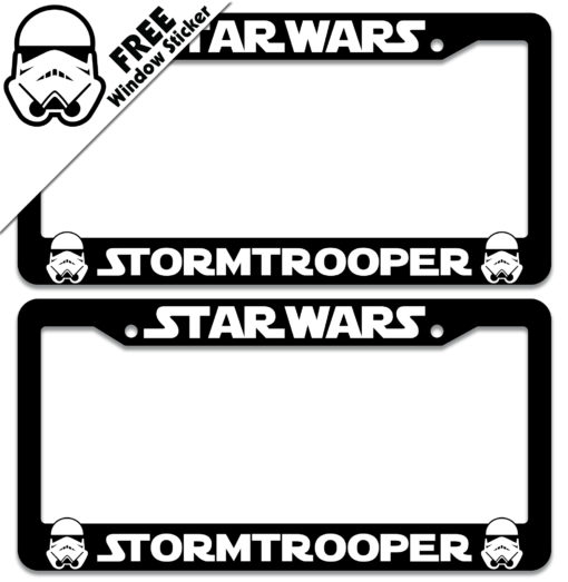 Star Wars Storm Trooper License Plate Frames