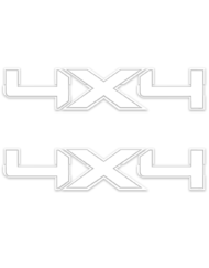 White Ford 4x4 Die Cut Decals Stickers