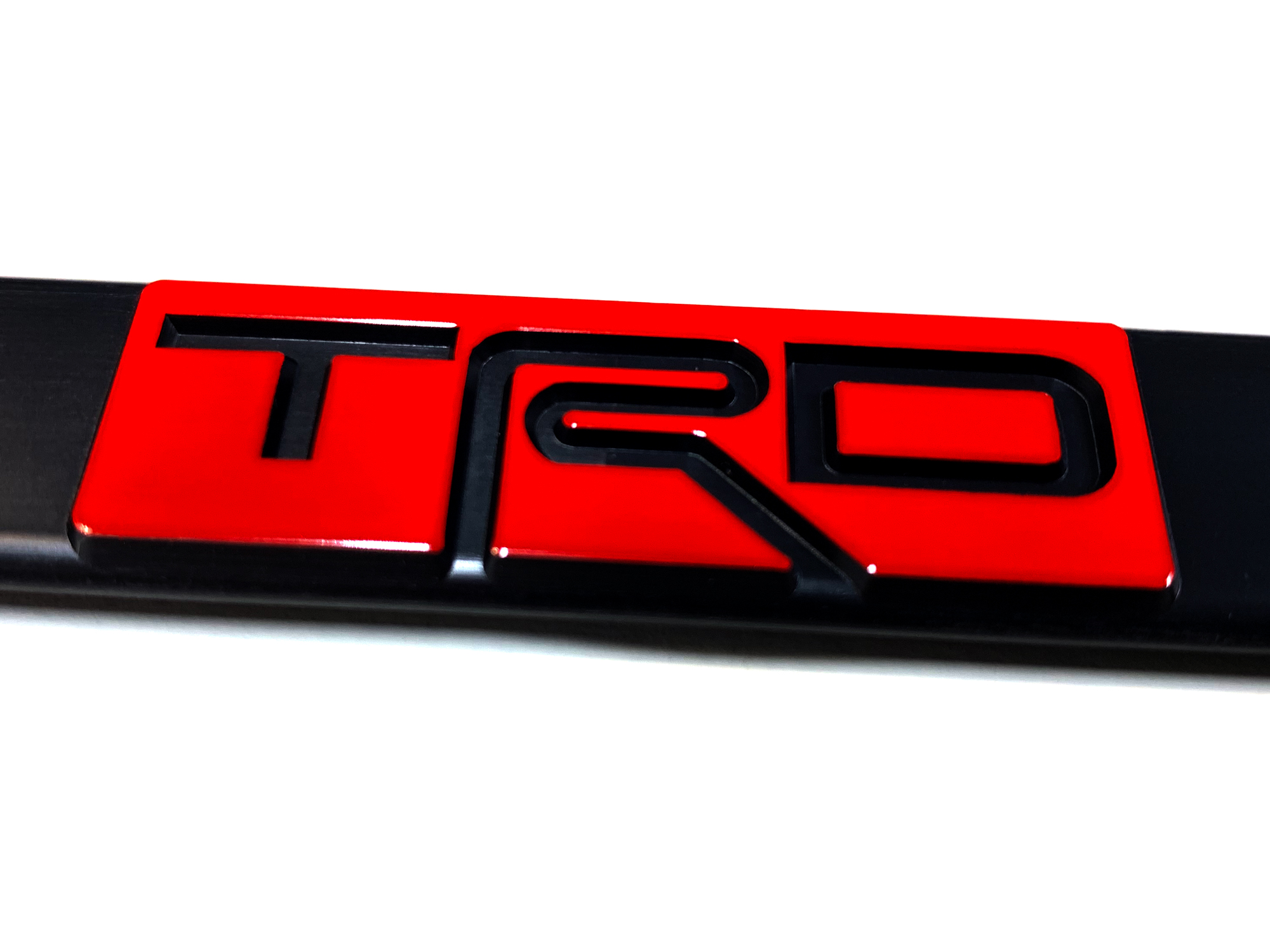 Trd Toyota Racing Development Aluminum License Plate 2 Auto Parts And Vehicles Other Car Truck Exterior Parts Magenta Cl