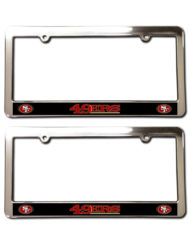 San Franscisco 49ers License Plate Frames