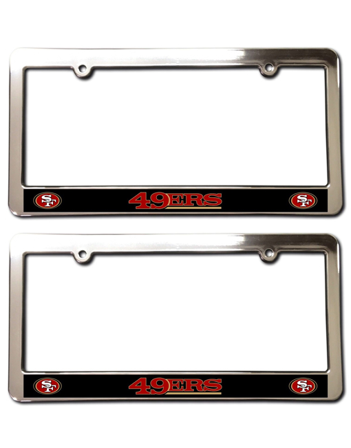 San Francisco 49ers License Plate Frames, Chrome Faced (Set of 2 ...