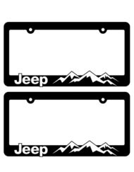 Jeep Mountain Range License Plate Frames
